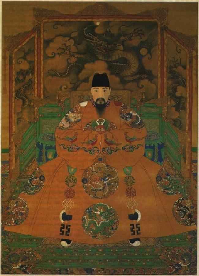 Retrato de un emperador Ming, se cree que es Hongzhi