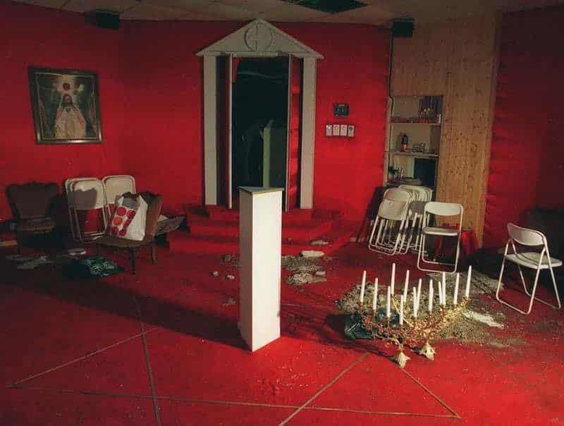 Restos de un salón donde se llevaban a cabo los rituales