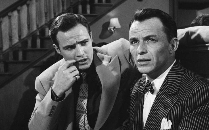 Sinatra y Brando en 'Guys and dolls'