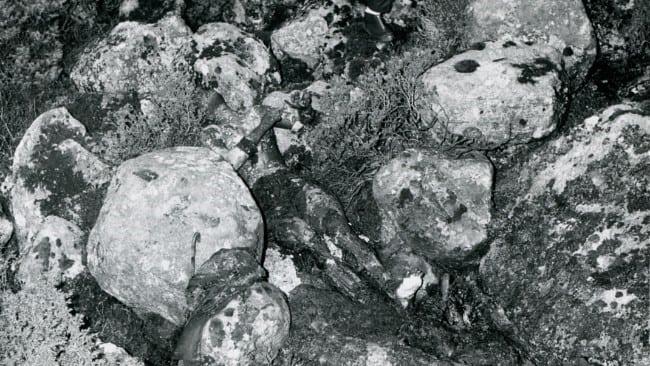 Foto tomada en la escena del crimen el 29 de Noviembre de 1970