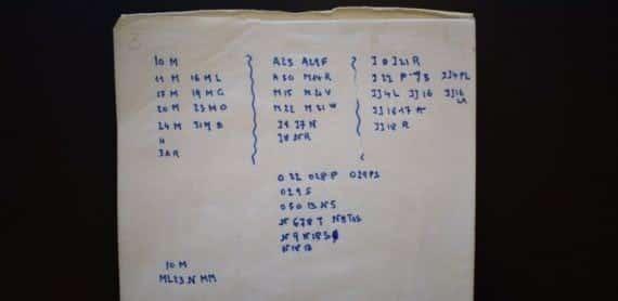 Parte del código encontrado en su diario