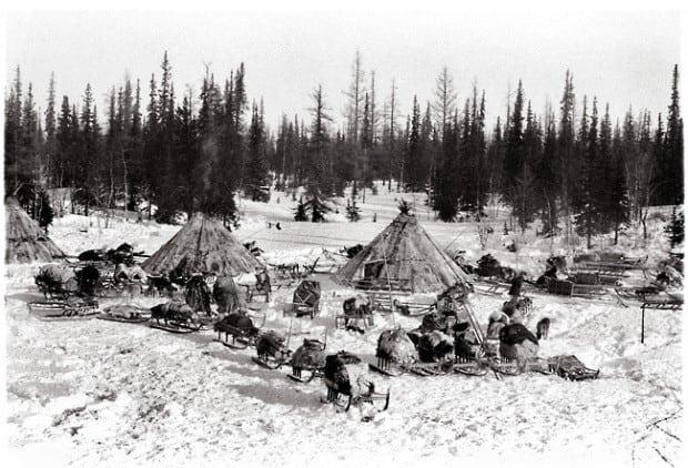 Pueblo esquimal abandonado