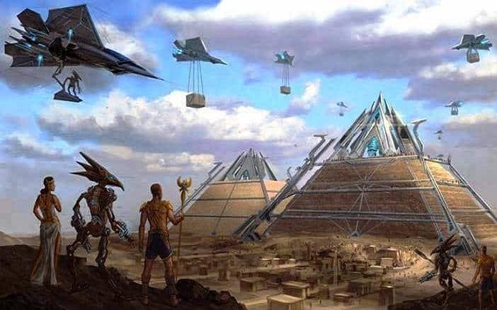 aliens y humanos